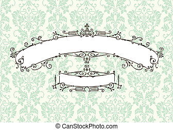 Vector Vintage Frame and Background