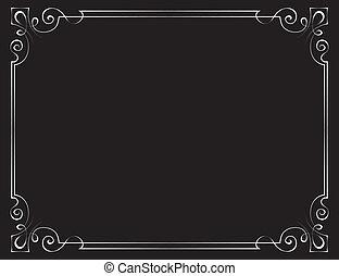 Vector vintage frame on a black background