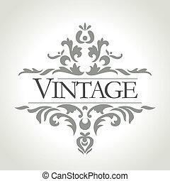 vector vintage frame - vintage frame design - vector...