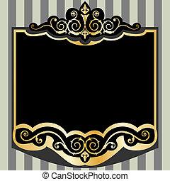 Vector vintage frame - Vintage style frame, full scalable ...