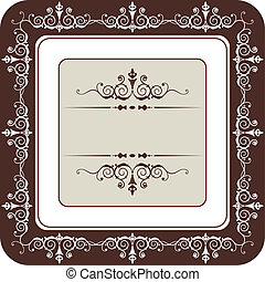 Vintage style frame, full scalable vector graphic for easy editing and color change, included Eps v8