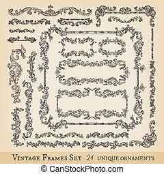 Vector vintage frames collection
