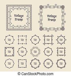 Vector vintage frames