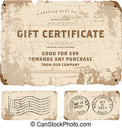 Vector Vintage Gift Certificate Template