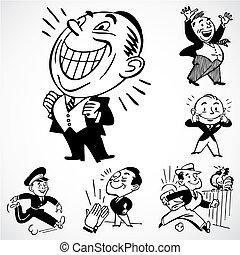 Vector Vintage Happy Men