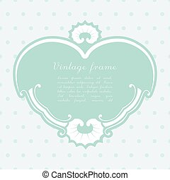 Vector vintage heart shape background.
