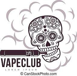 Vector vintage illustration vape logo - Vape, e-cigarette ...