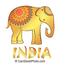 Vector vintage Indian elephant