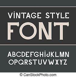 Vector vintage label font. Label style