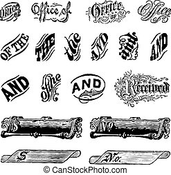 Vector Vintage Letter Set. Easy to edit. Perfect for...