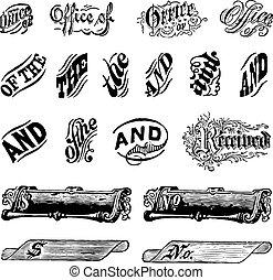 Vector Vintage Letter Set