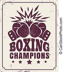 vintage logo for a boxing - Vector vintage logo for a boxing...