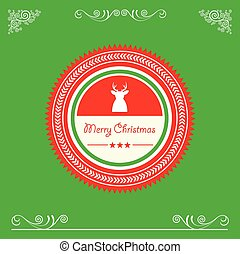 vintage merry christmas badges and label