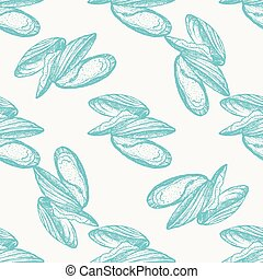 Vector vintage mussel pattern