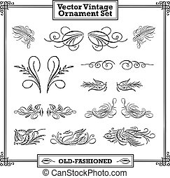 Vector Vintage Ornament Set
