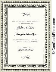 Vector Vintage Ornate Frame. Easy to edit. Perfect for ...