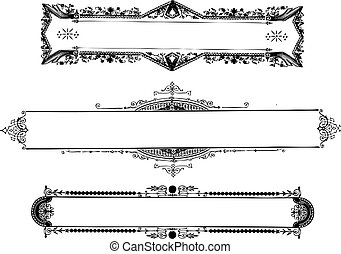 Vector Vintage Ornate Frames - Vector ornate frame set. Easy...