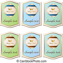 vector vintage paper labels
