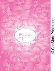 Vector vintage pink background