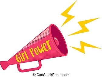 Girl power retro poster.