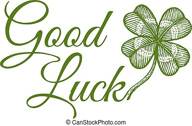 Green lucky clover