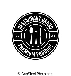 vector vintage restaurant logos, badges and emblems