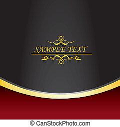 vintage royal golden black and red background. vector illustration.