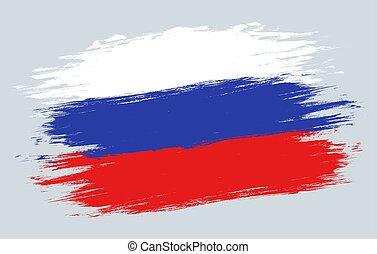 Vector vintage Russian flag.