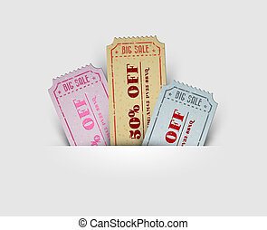 Vector vintage sale coupons