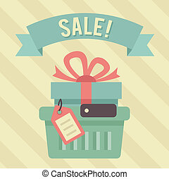 Vector Vintage Sale Illustration