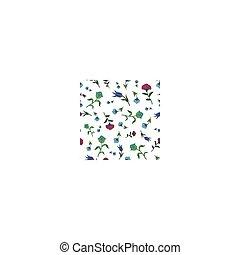Vector Vintage Scattered Field Flowers Seamless Pattern