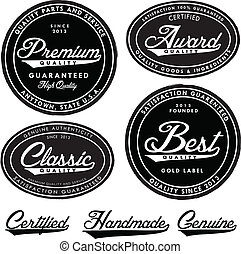 Vector Vintage Seal Set. Easy to edit with free fonts.