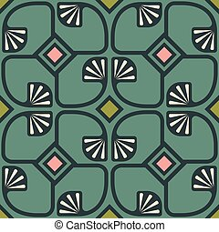 pattern in art deco style - Vector vintage seamless pattern...