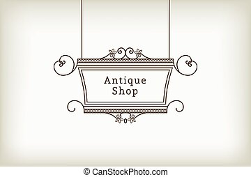 Vector Vintage Signboard - Vintage signboard for outdoor...