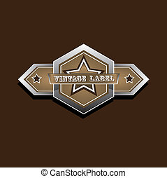 vector vintage star label retro style