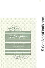 Vector Vintage Stripe and Dot Pattern and Frame