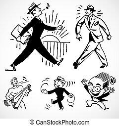 Vector Vintage Successful Businessmen