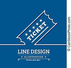 Vector Vintage Ticket background