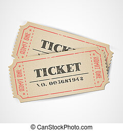 Vector vintage tickets - Old Vector vintage paper tickets...