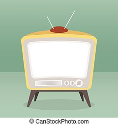 vector vintage tv color isolated