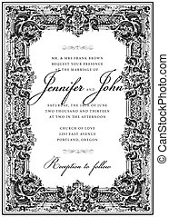 Vector Vintage Victorian Frame. Easy to edit. Perfect for invitations or announcements.