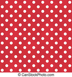 Vector vintage white and red pattern - seamless polka dots