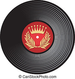 vector vinyl disc (vinyl record)