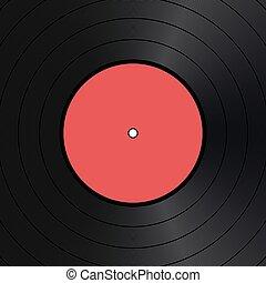 Vector vinyl disk vintage background.