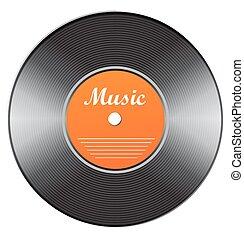 Vector vinyl icon. Eps 10 vector illustration.