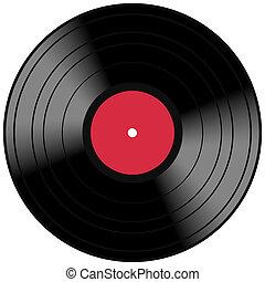 Vector Vinyl Lp Album Disc - Vintage music record concept...