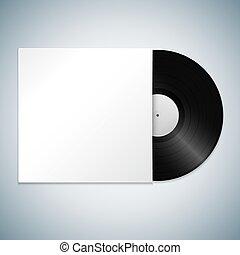 vector vinyl record cover mockup