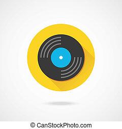 Vector Vinyl Record Icon