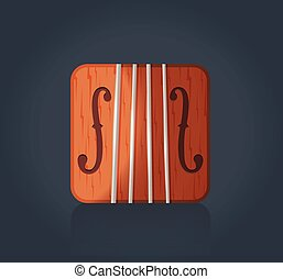 Vector violin icon for music software