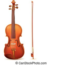 vector violin isolated on white background